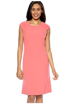 Kasper Petite Cap Sleeve Sheath Dress