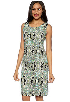 Kasper Printed Twill Dress