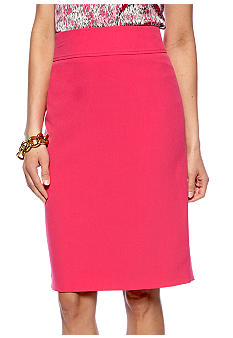 Kasper Plus Size Hot Pink Pencil Skirt