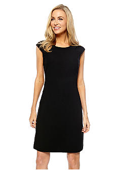Kasper Crepe Cap Sleeve Euro Sheath Dress
