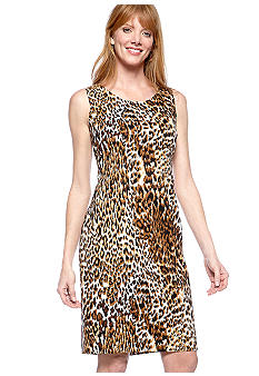 Kasper Animal Print Sheath Dress