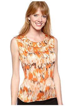 Kasper Watercolor Rouched Neck Cami
