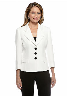 Kasper Three-Button Blazer