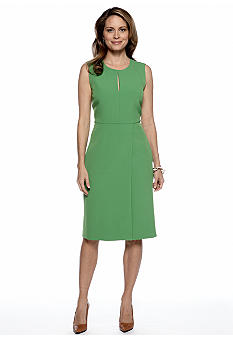Kasper Sheath Dress with Keyhole