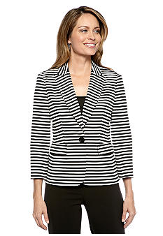 Kasper Striped Blazer