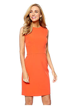 Kasper Petite Stitched Waist Sheath Dress