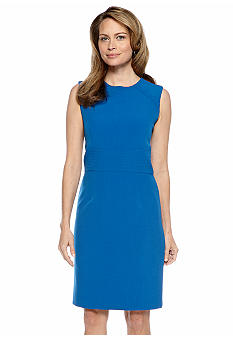 Kasper Petite Empire Waist Sheath Dress