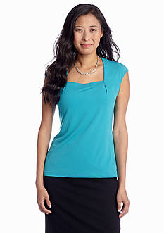 Kasper Solid Square Neck Cami
