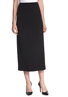 Kasper Bi-Stretch Crepe Column Skirt