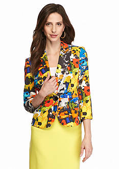 Kasper Bouquet Print Jacket