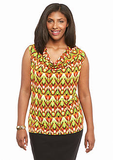 Kasper Plus Size Jersey Knit Top