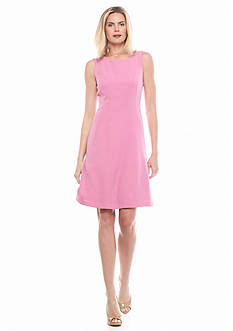 Kasper Crepe Flare Dress