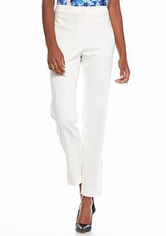 Kasper Petite Solid Slim Pants