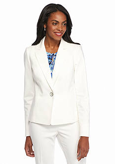 Kasper Petite Solid Tailored Jacket