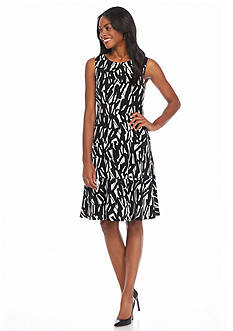 Kasper Printed Flare Dress