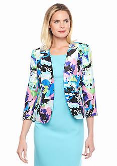 Kasper Shantung Print Jacket