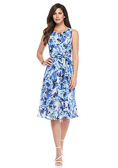 Kasper Floral Georgette Dress