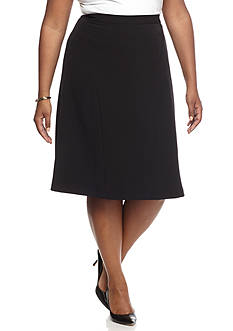 Kasper Plus Size Fit and Flare Skirt