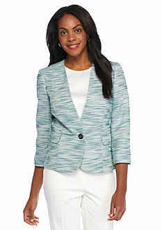 Kasper Petite Single Button Multi Tweed Jacket