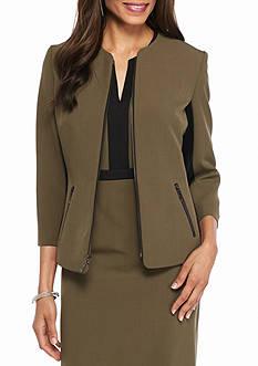 Kasper Petite Zip Front Jacket