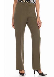 Kasper Woven Flat Front Pants
