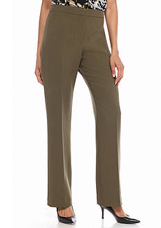 Kasper Petite Flat Front Pants