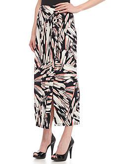 Kasper Faux Jersey Knit Sarong Skirt