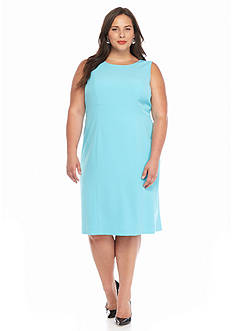 Kasper Plus Size Solid Sheath Dress