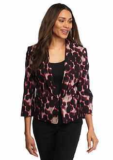 Kasper Leopard Print Jacket