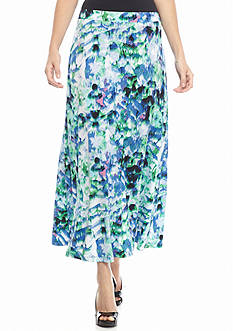 Kasper Jersey Knit Print Skirt