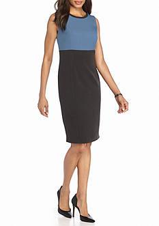 Kasper Petite Colorblock Sheath Dress