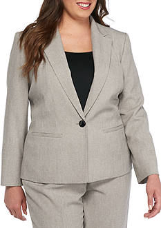 Kasper Plus Size One Button Jacket
