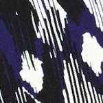 Women's Suit Jackets: Grape Mult Kasper Print Open Front Jacket