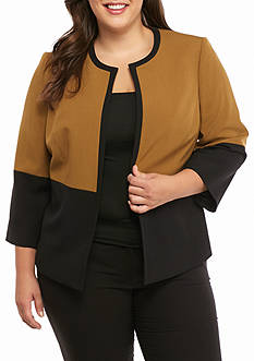 Kasper Plus Size Colorblock Jacket