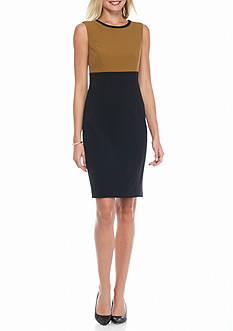 Kasper Colorblock Sleeveless Dress