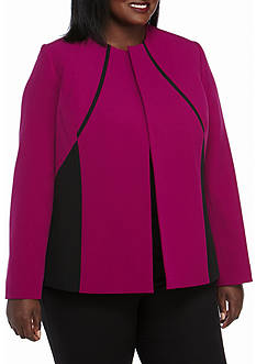Kasper Plus Size Two Tone Jacket