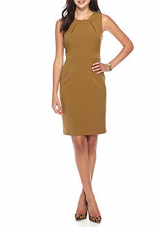 Kasper Solid Crepe Dress