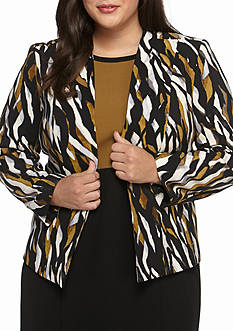 Kasper Plus Size Print Jacket