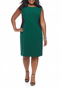 Kasper Plus Size Colorblock Dress