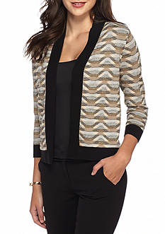 Kasper Pattern Cardigan Sweater