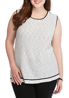 Kasper Plus Size Textured Knit Top