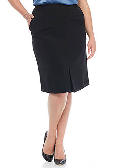 Kasper Plus Size Crepe Skirt