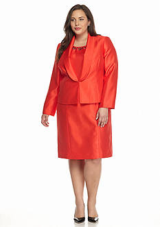 Kasper Plus Size Shiny Dress Suit