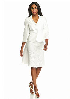 Kasper Triple Button Skirt Suit