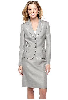 Kasper Plus Size Melange Skirt Suit