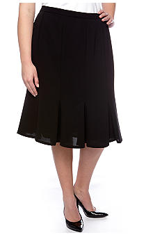 Kasper Plus Size Crepe Panel Skirt