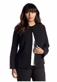 Kasper Plus Size Crepe Cardigan Jacket