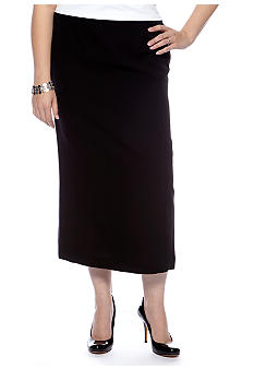 Kasper Plus Size Crepe Column Skirt