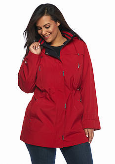 Gallery Plus Size Covered Zip Anorak Coat