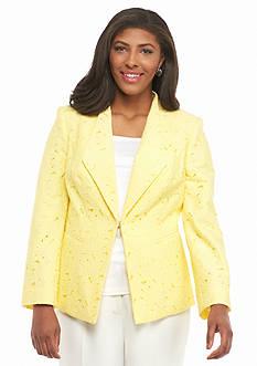 John Meyer Plus Size Lace Jacket